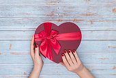 Gift Box, Heart Shape, Valentine's Day - Holiday, Mother's Day, Backgrounds