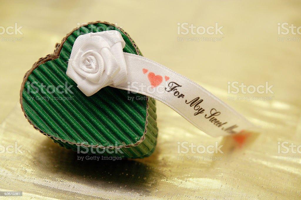 Heart shape gift box royalty-free stock photo