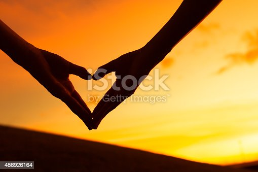 istock Heart shape hand 486926164