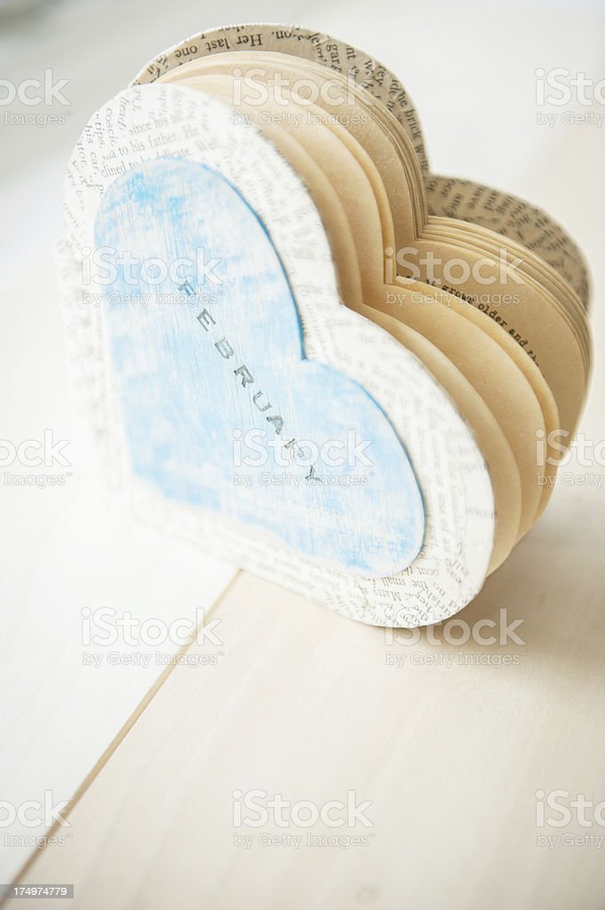Heart Shape Handmade Book royalty-free stock photo