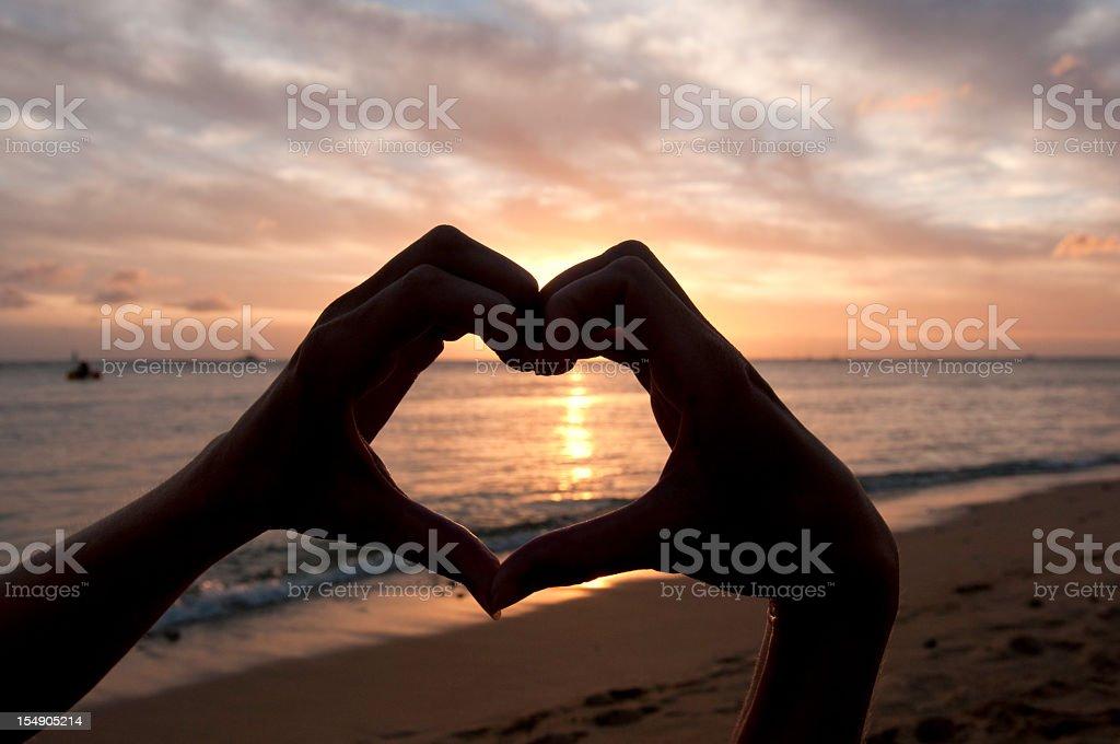 Heart Shape Hands stock photo