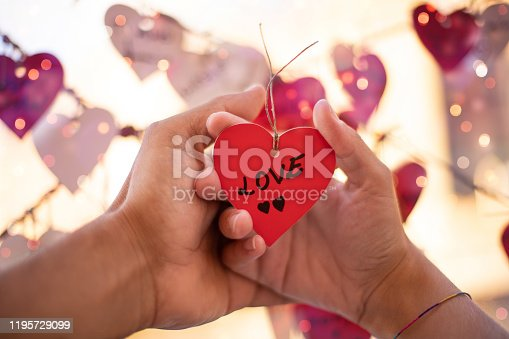 Love concept with hearth shape