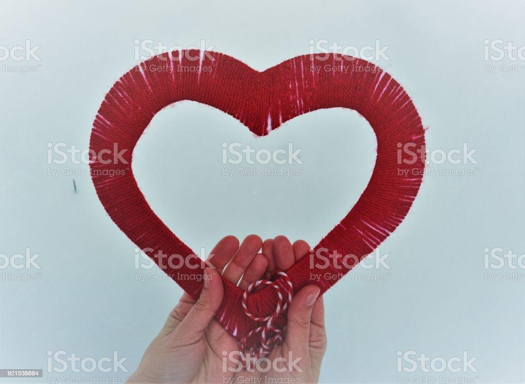 heart shape in women hands stock photo
