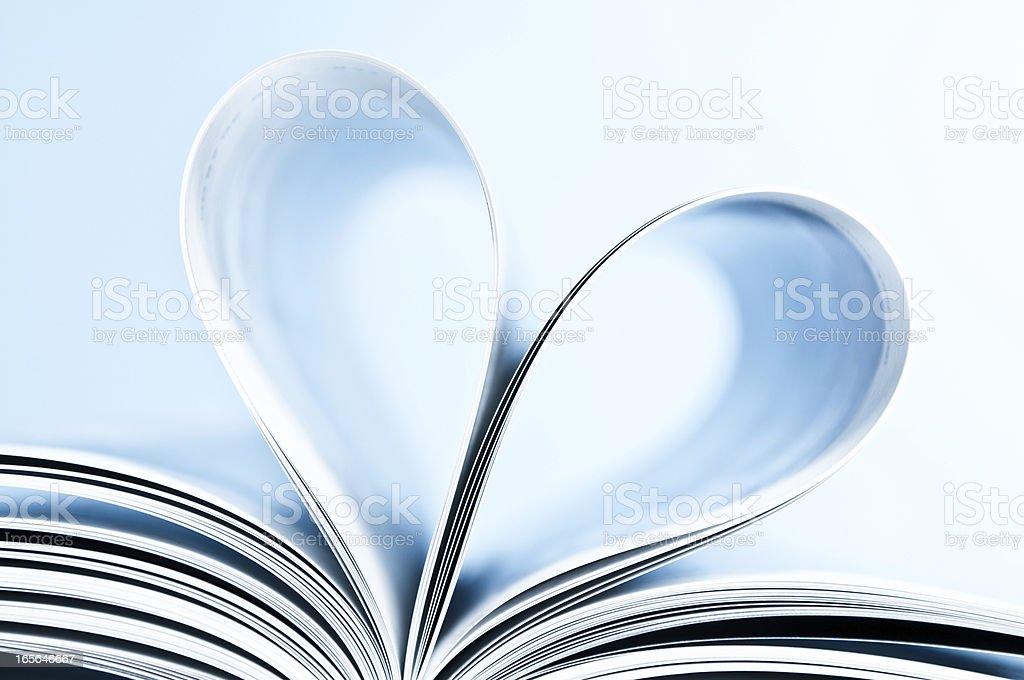 Heart shape inside book royalty-free stock photo