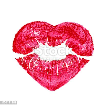 istock heart shape kissing lips isolated over a white background 536191989