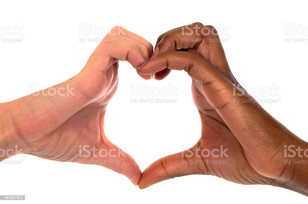 Heart Shape, Love, Multi-Ethnic Group stock photo