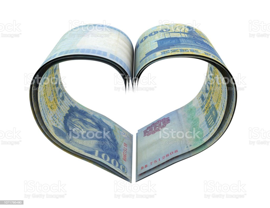 Heart Shape Made Forint stock photo