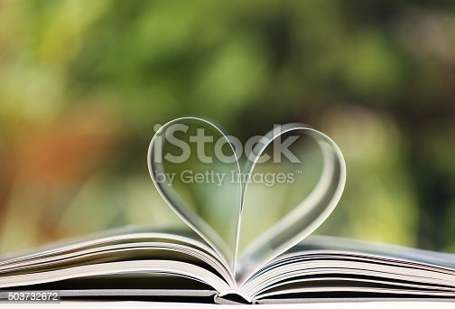 istock Heart shape made from book pages 503732672