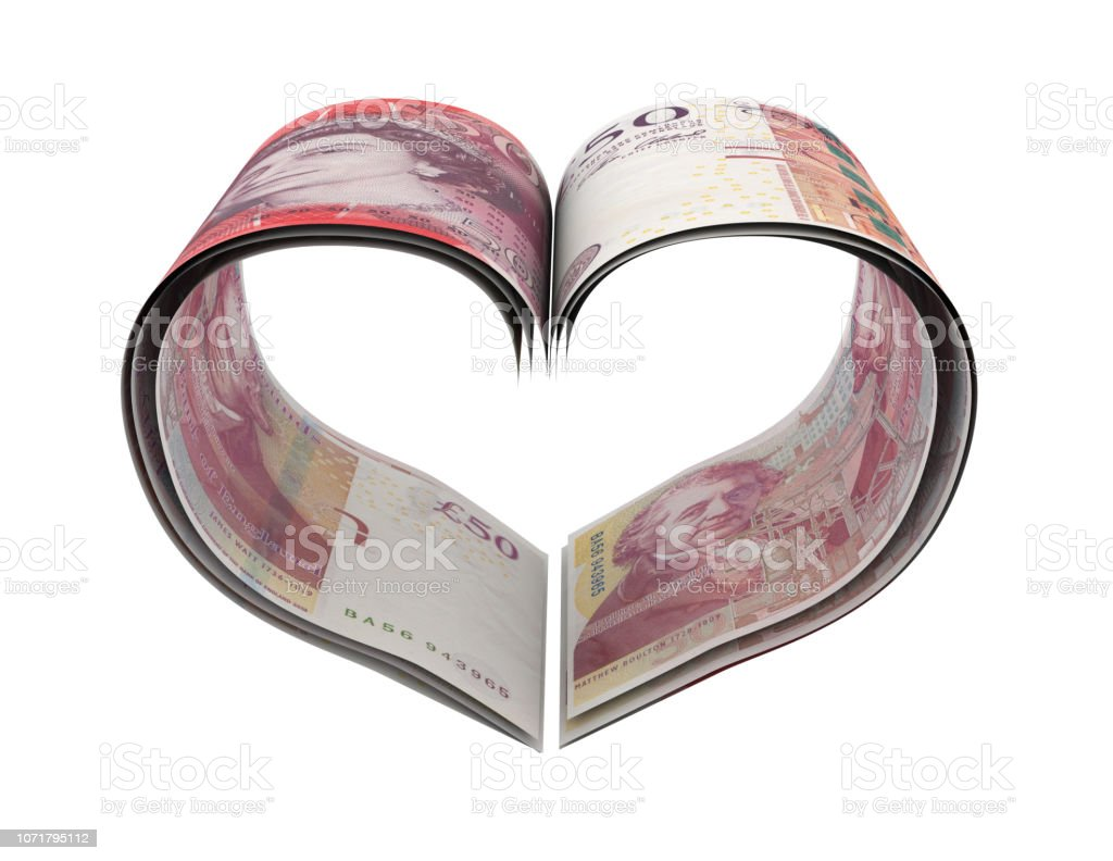 Heart Shape Made Pound stock photo