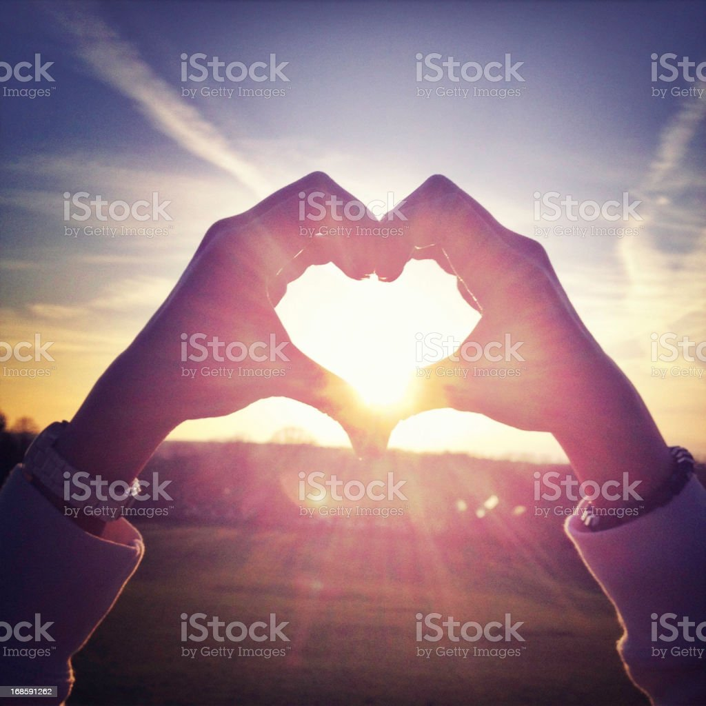 Heart shape made with hands royalty-free stock photo