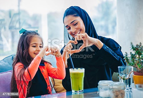 istock Heart shape made with hands 477828646