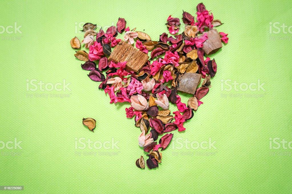 Heart shape of flower stock photo