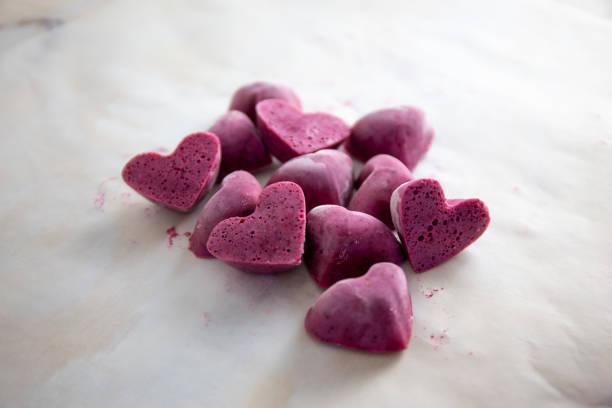 Heart form av Ice Cube bildbanksfoto
