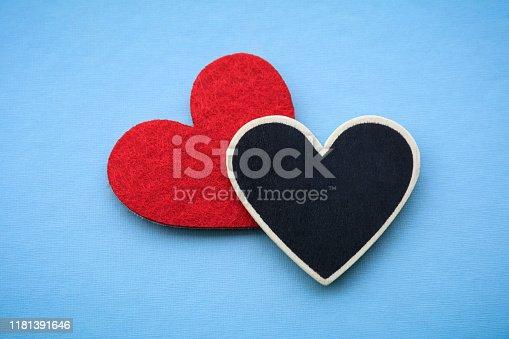 Heart Shape on blue background