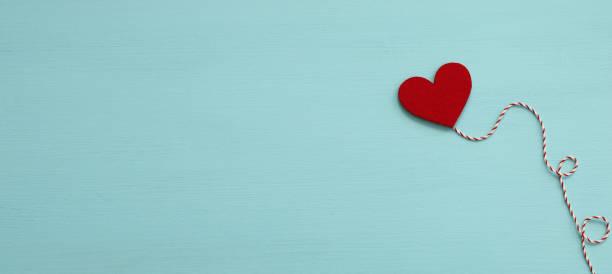 Heart Shape On Blue Background stock photo