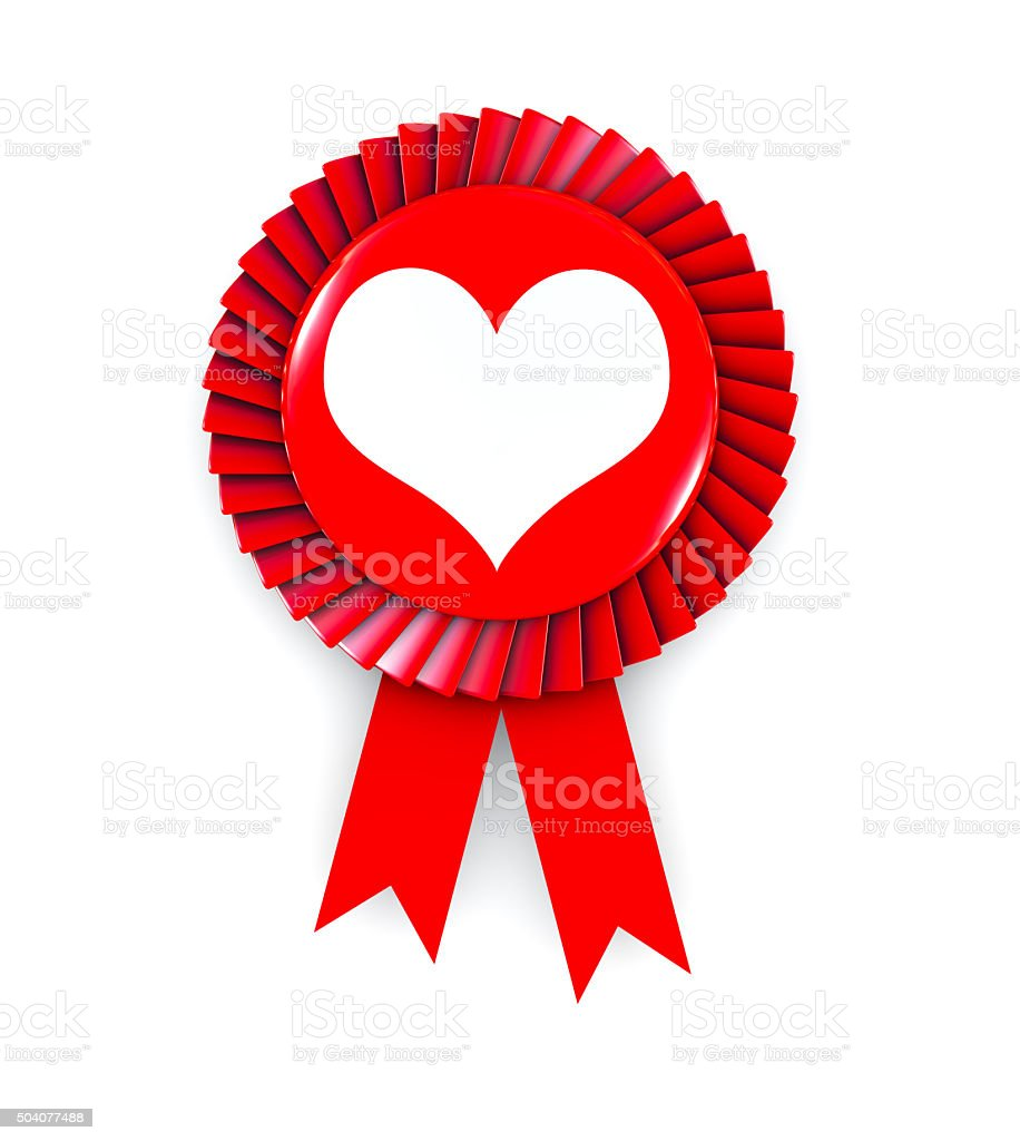 Heart Shape on Cockade stock photo