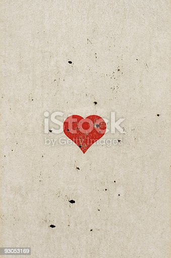 istock Heart Shape On Old Paper 93053169
