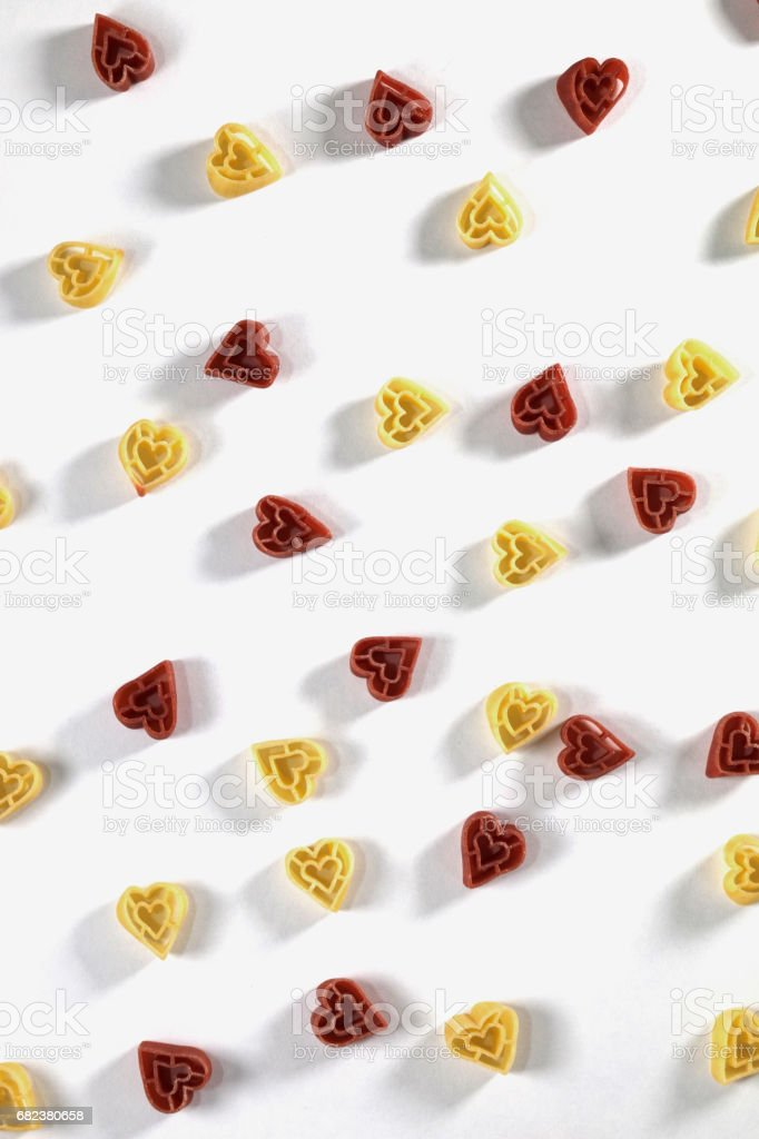 Heart shape pasta royalty-free stock photo