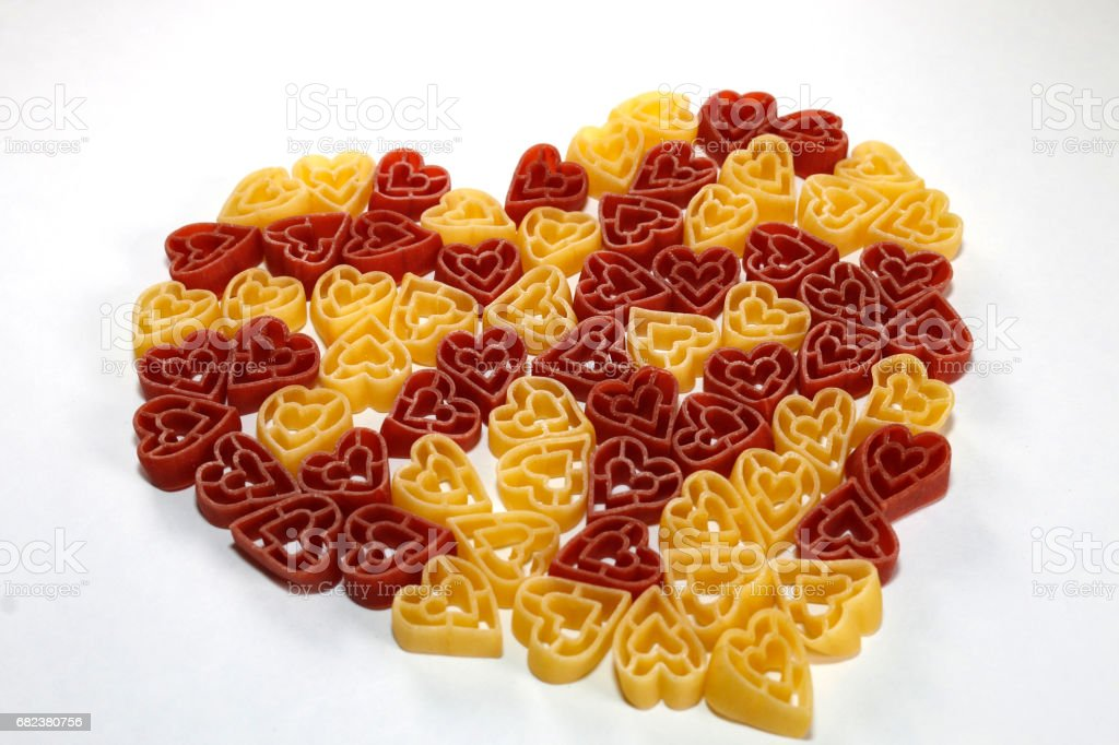 Heart shape pasta foto stock royalty-free
