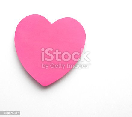 istock heart shape post it 183328647