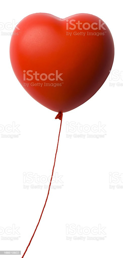 Heart Shape Red  Balloon stock photo