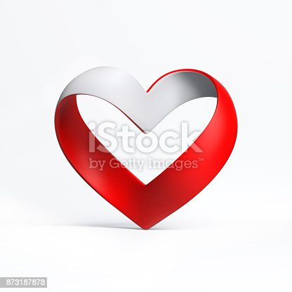 istock heart shape ribbon 3d rendering isolated  illustration 873187878