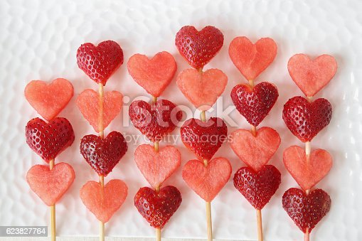 istock heart shape strawberry and watermelon fruit  skewers 623827764