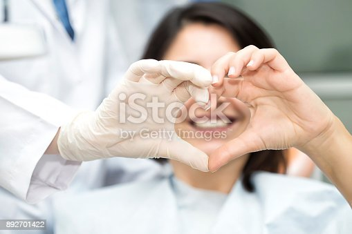 istock Heart Shape with doctor 892701422