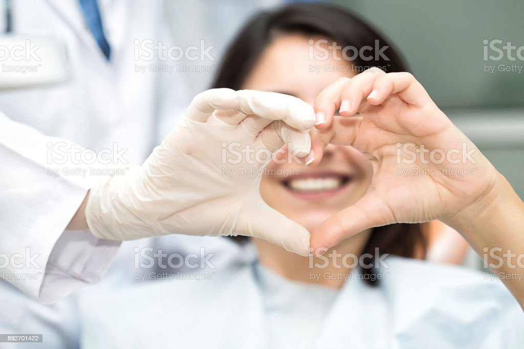 Heart Shape with doctor stock photo