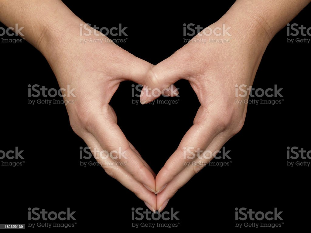 Heart Shape with Hands stock photo