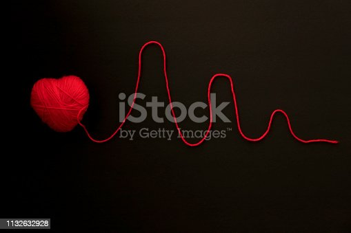 Heart shape with red rope