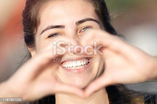 Heart shape with teeth