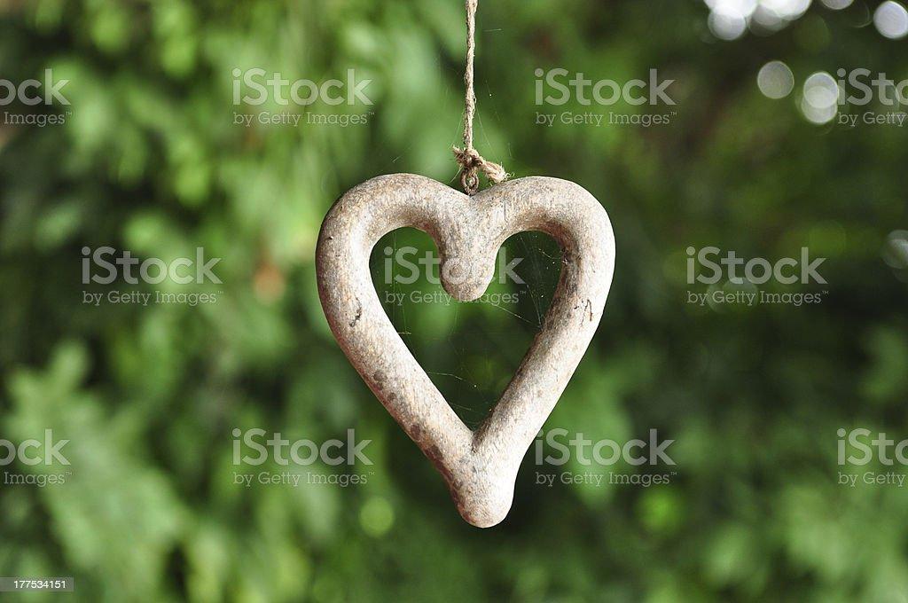 Heart shape wood royalty-free stock photo