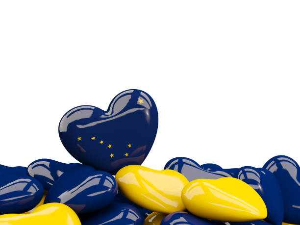 heart shaped alaska state flag. united states local flags - alaska us state stock photos and pictures