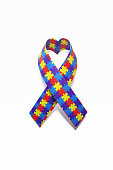 Heart Shaped Autism Awareness Ribbon
