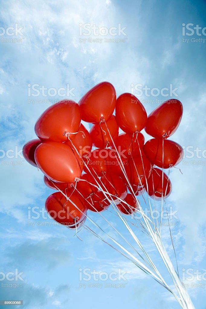 heart shaped balloons royalty-free stock photo