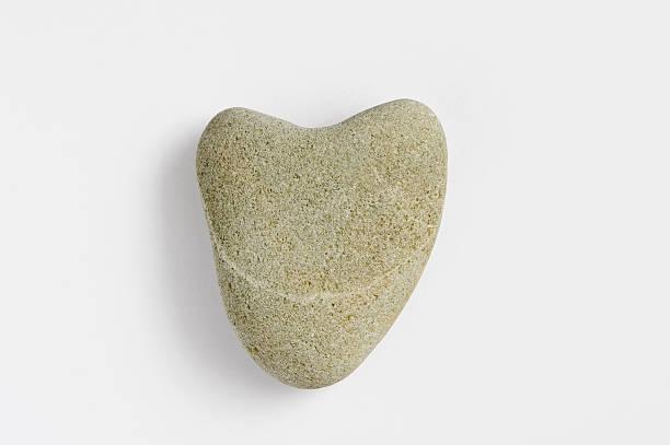 Heart shaped beach stone. stock photo