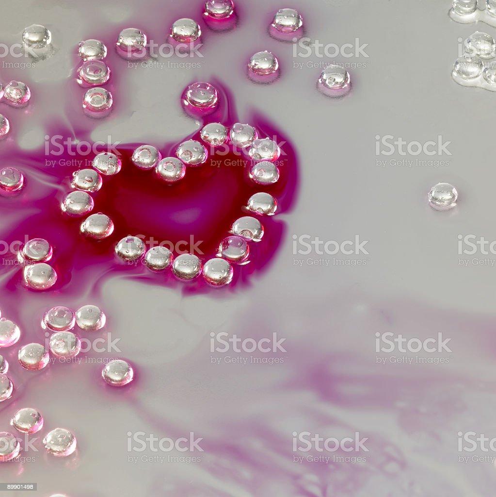 heart shaped beads royalty-free stock photo