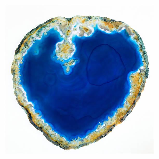 Heart Shaped Blue Stone stock photo