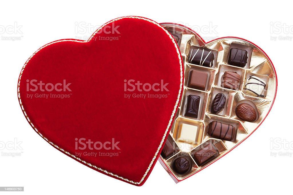 Heart Shaped Box of Chocolates stock photo
