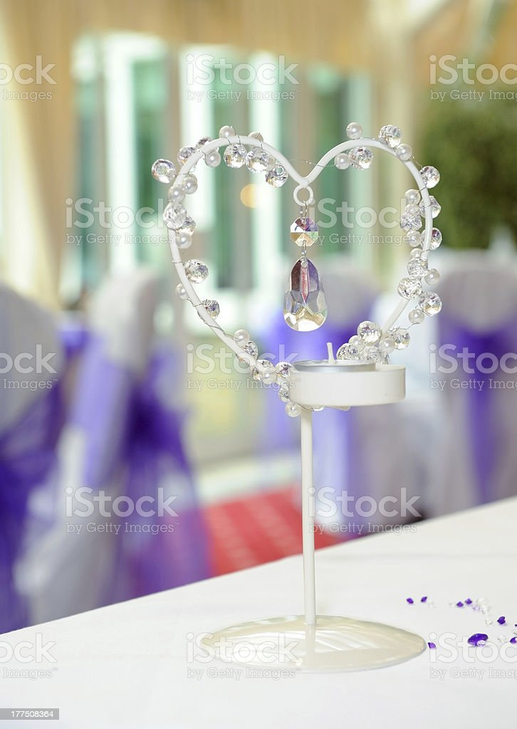 Heart shaped candle holder royalty-free stock photo