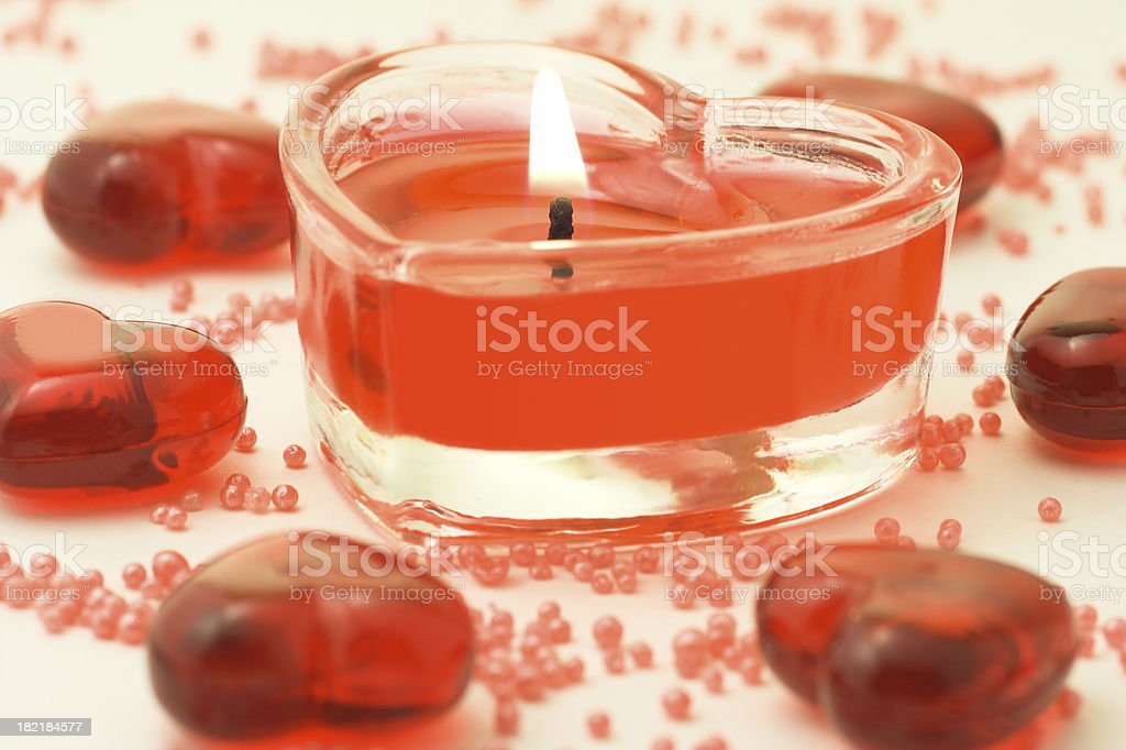Heart shaped candle royalty-free stock photo