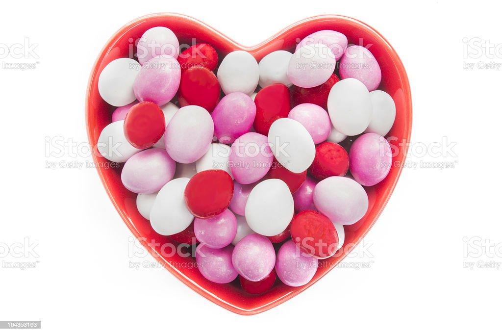 Heart Shaped Candy Dish royalty-free stock photo
