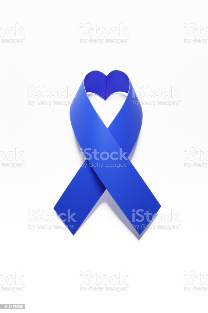 Heart Shaped Child Abuse Or Prostate Cancer Awareness Ribbon stock photo