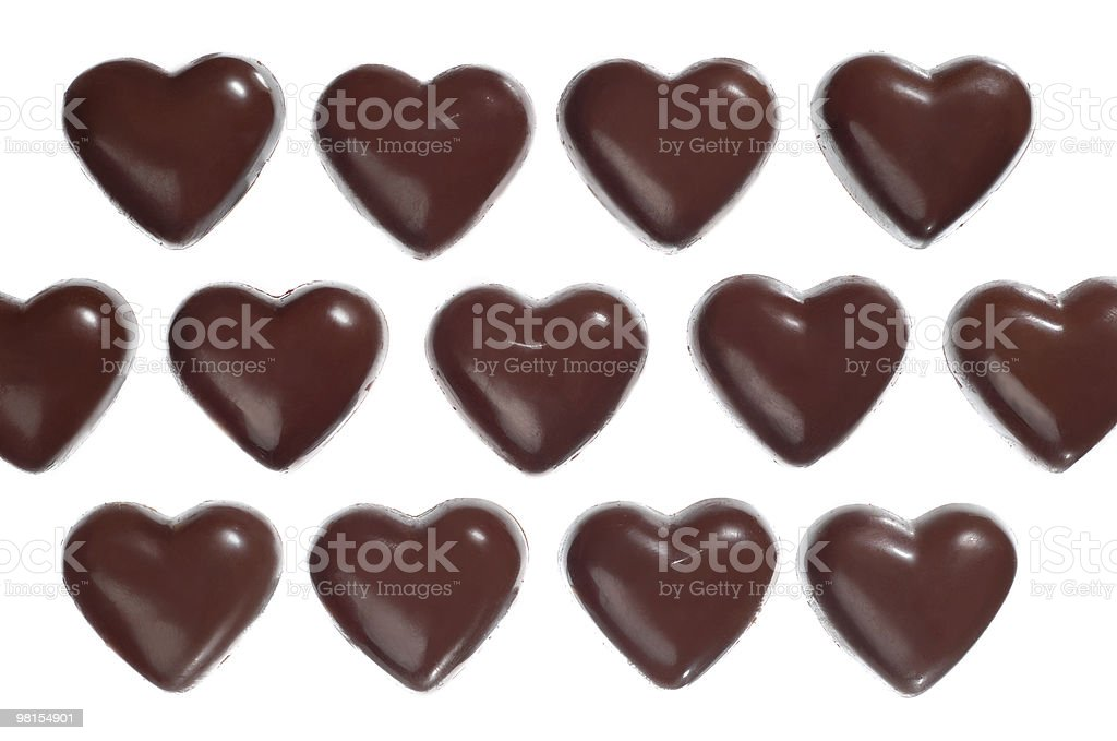 Heart shaped chocolate candies royalty-free stock photo