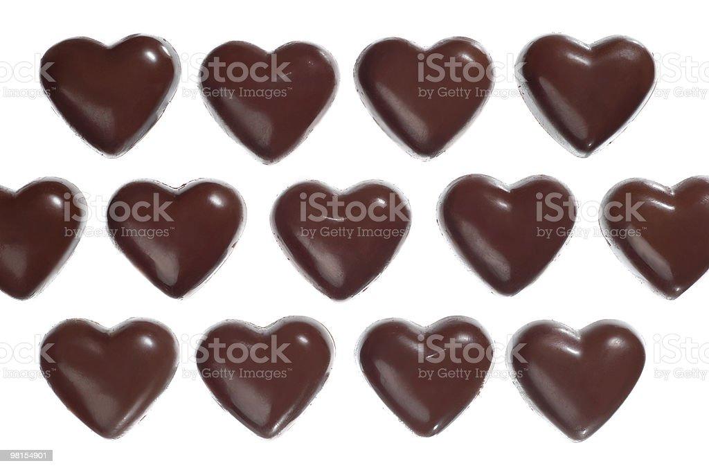 Caramelle di cioccolato a forma di cuore foto stock royalty-free