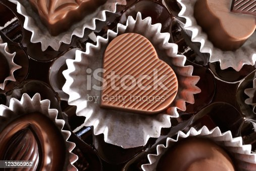 istock heart shaped chocolate 123365952