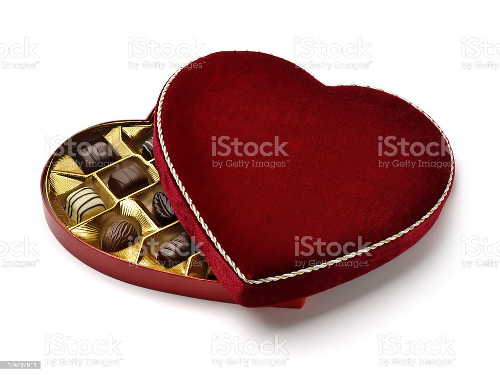 Heart Shaped Chocolates stock photo