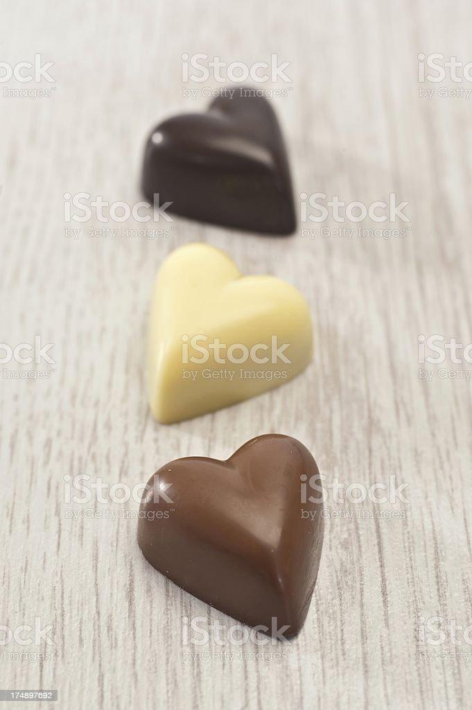 Heart Shaped Chocolates royalty-free stock photo