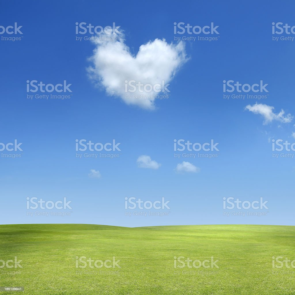 heart shaped cloud royalty-free stock photo